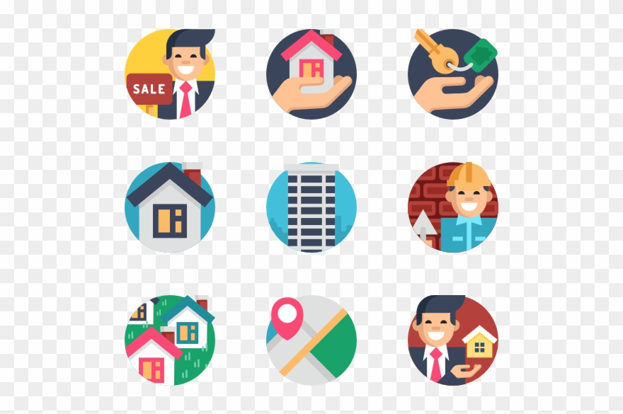 Vector real estate clipart graphic transparent library Free Vector Real Estate - Logo Png Clipart (#1938581 ... graphic transparent library