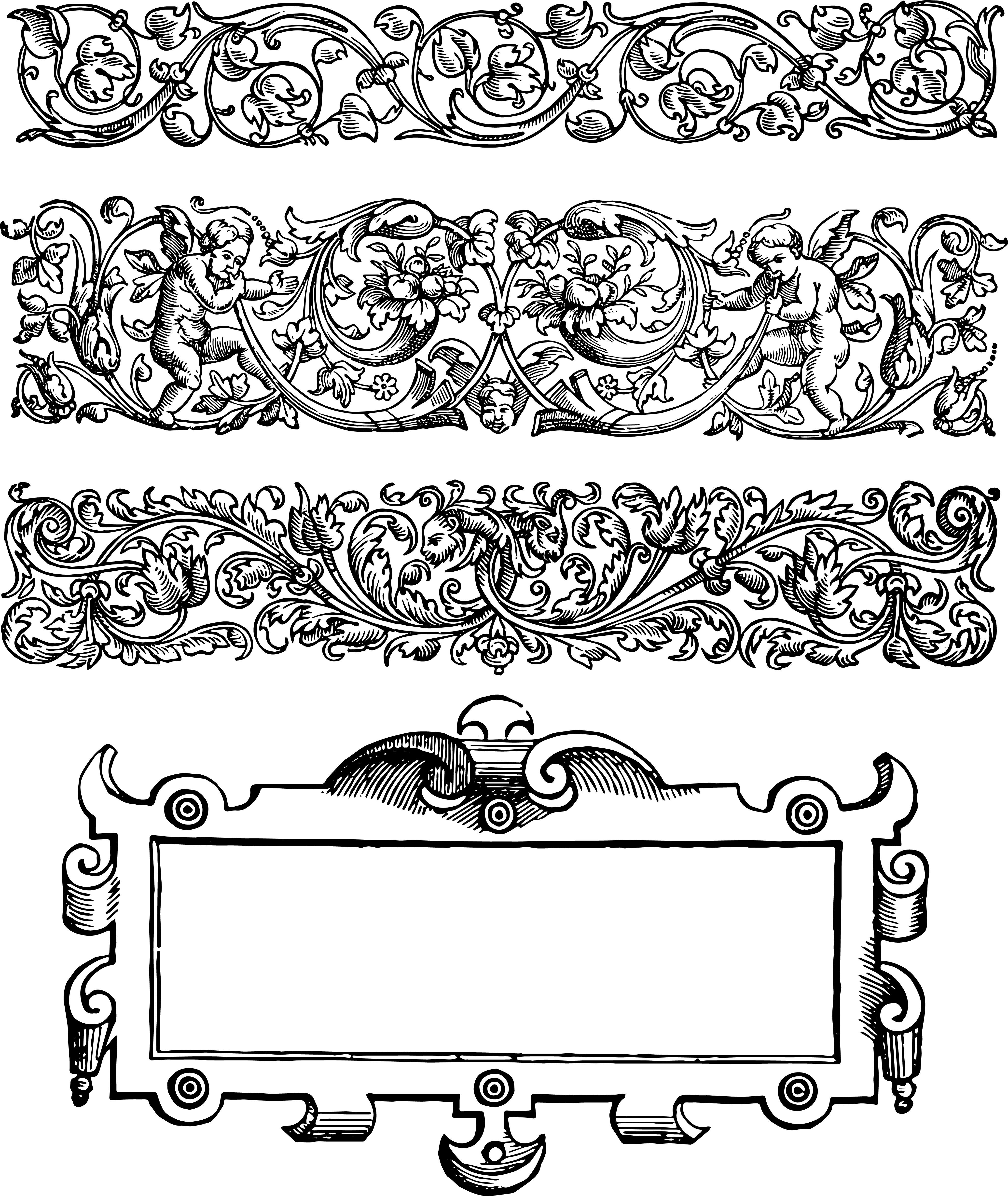 Vector rustic frame clipart vector black and white stock Unique Vgosn Vintage Borders And Frames Clip Art Pictures ... vector black and white stock