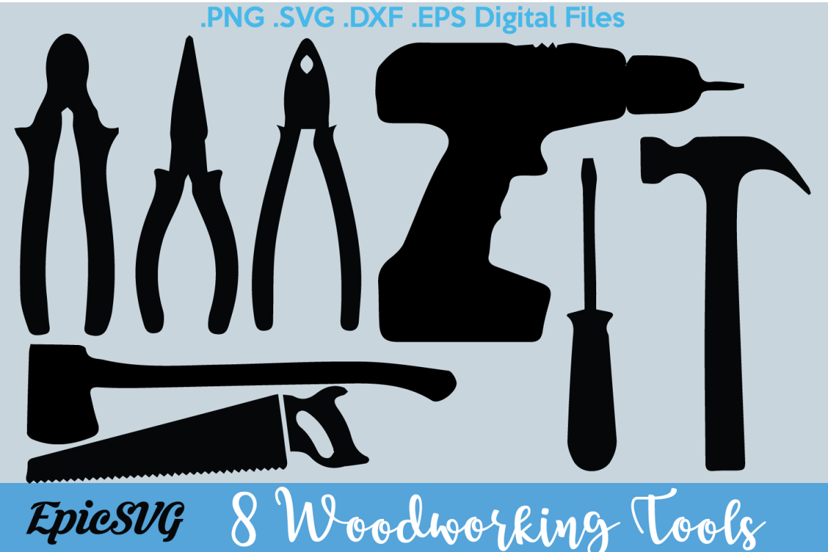 Woodworking tools clipart svg Woodworking Tools | .SVG .DXF | clipart Vector Graphic Tools Saw Axe Drill  Silhouette Cameo Cricut Digital Download svg