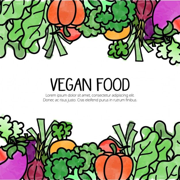 Vegetarian clipart free svg free stock Background with hand drawn vegetarian food Free Vector ... svg free stock