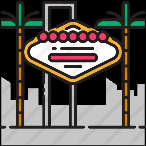 Vegas clipart free icon image Las vegas - Free monuments icons image