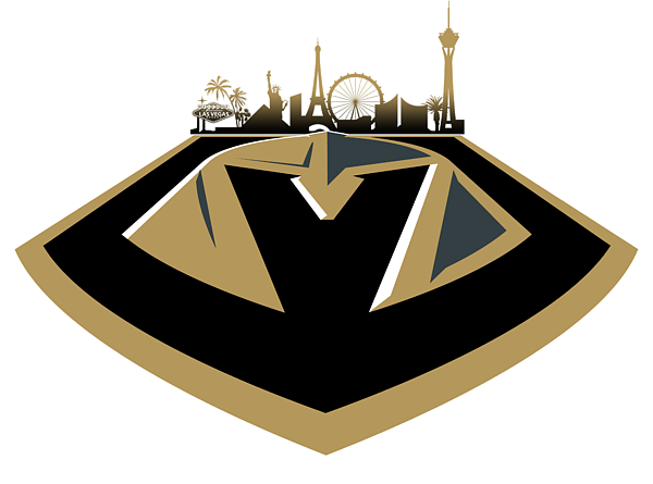Vegas golden knights clipart picture black and white stock Vegas Golden Knights With Skyline Shower Curtain picture black and white stock