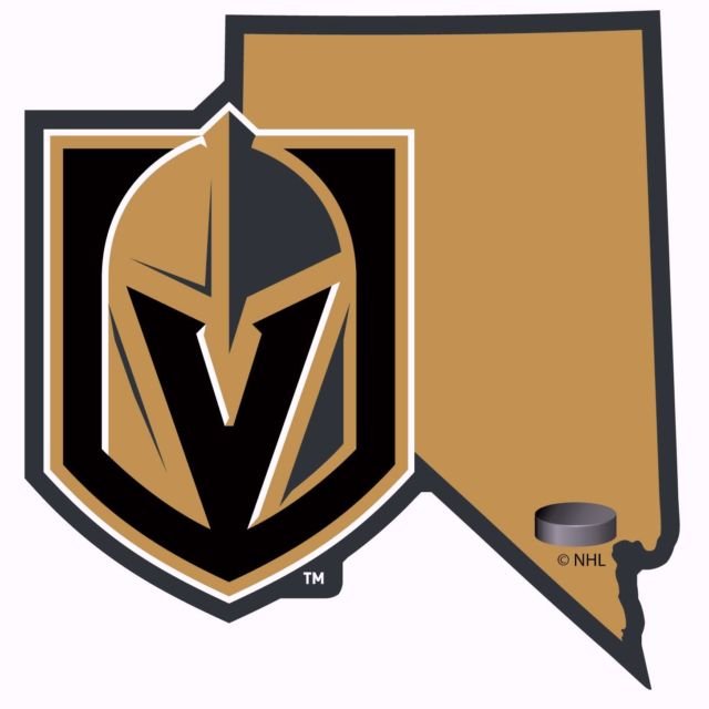 Vegas golden knights clipart vector black and white download Siskiyou NHL Las Vegas Golden Knights Home State Decal 5\