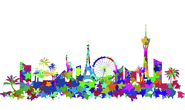 Vegas skyline silhouette clipart png free library Las Vegas Skyline Silhouette Beach Towel png free library