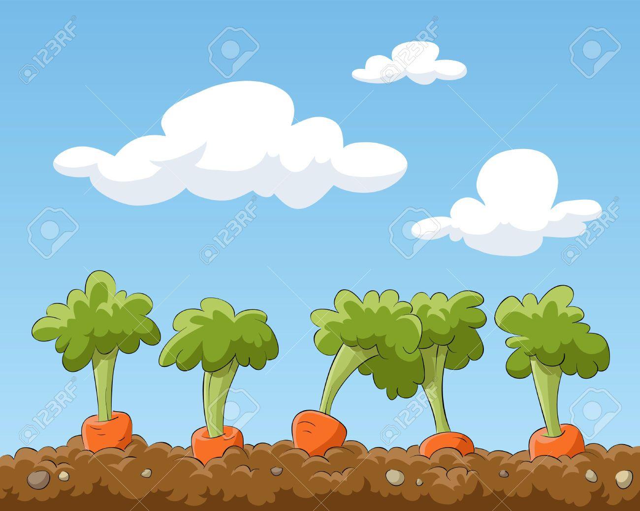 Vegetable field clipart vector royalty free Pin by simon dewey on inspiration | Cartoon garden, Garden ... vector royalty free