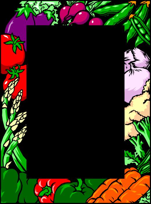 Vegetable garden clipart border image library stock Vector Illustration Of Fresh Vegetables Border With ... image library stock