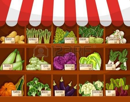 Vegetable stand clipart free library vegetable market: Vegetable market stall with fresh veggies ... free library