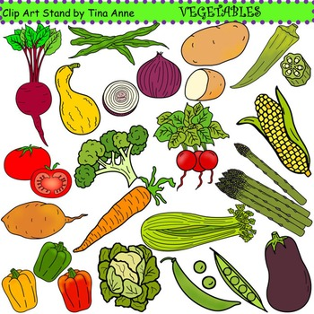 Vegetable stand clipart image library stock Clip Art Vegetables Combo image library stock