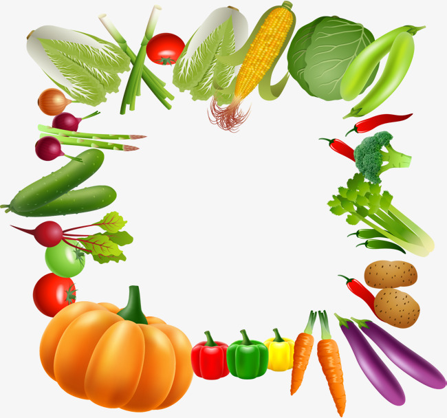Veggie frame clipart png royalty free Fruit And Vegetable Border | Free download best Fruit And ... png royalty free