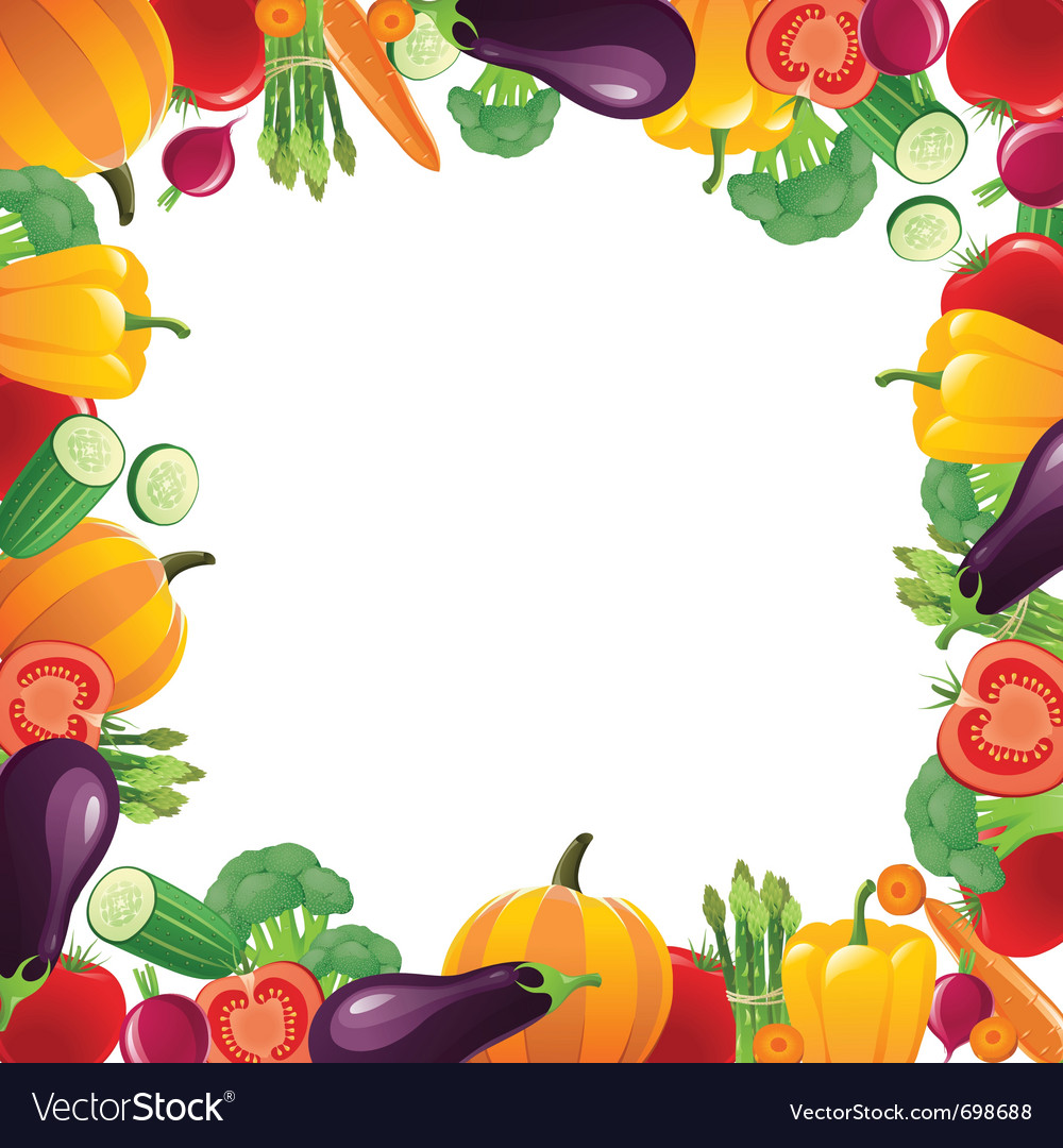 Veggie frame clipart clip library library Vegetables frame for your designs clip library library