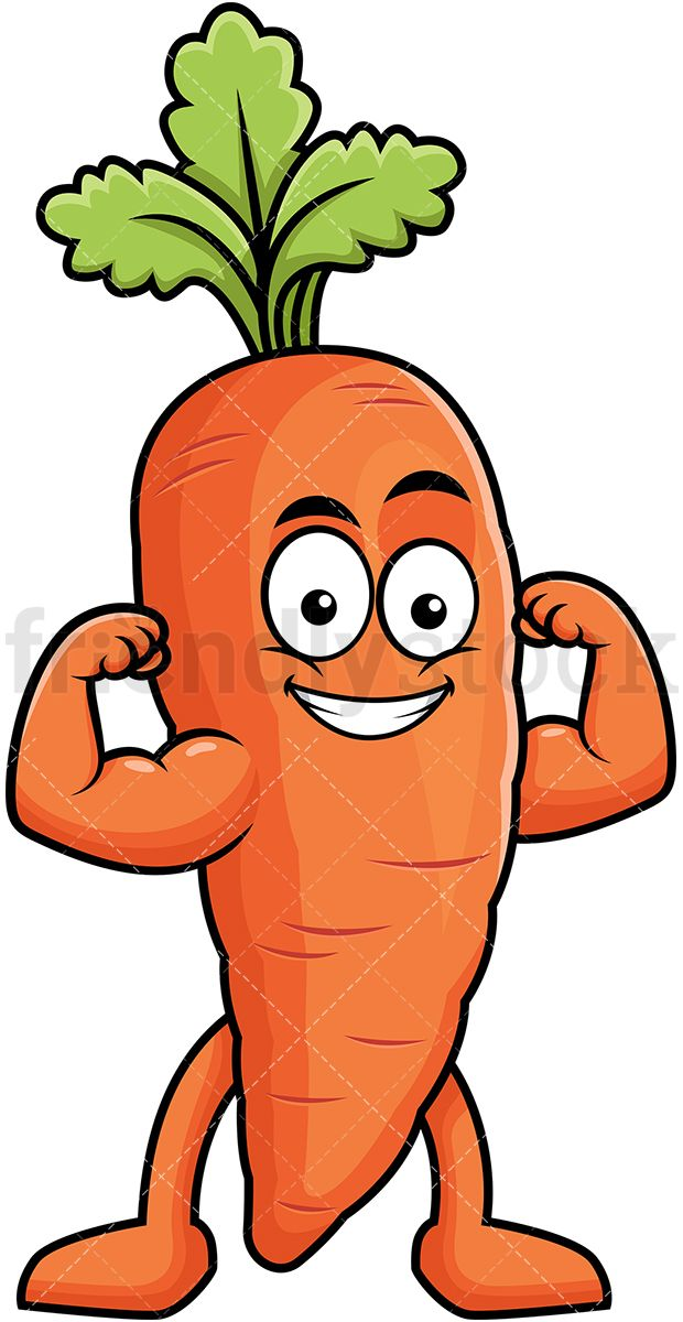Veggies and knife clipart clip black and white download Carrot Mascot Flexing Its Muscles   Clip Arts   Vegetable ... clip black and white download