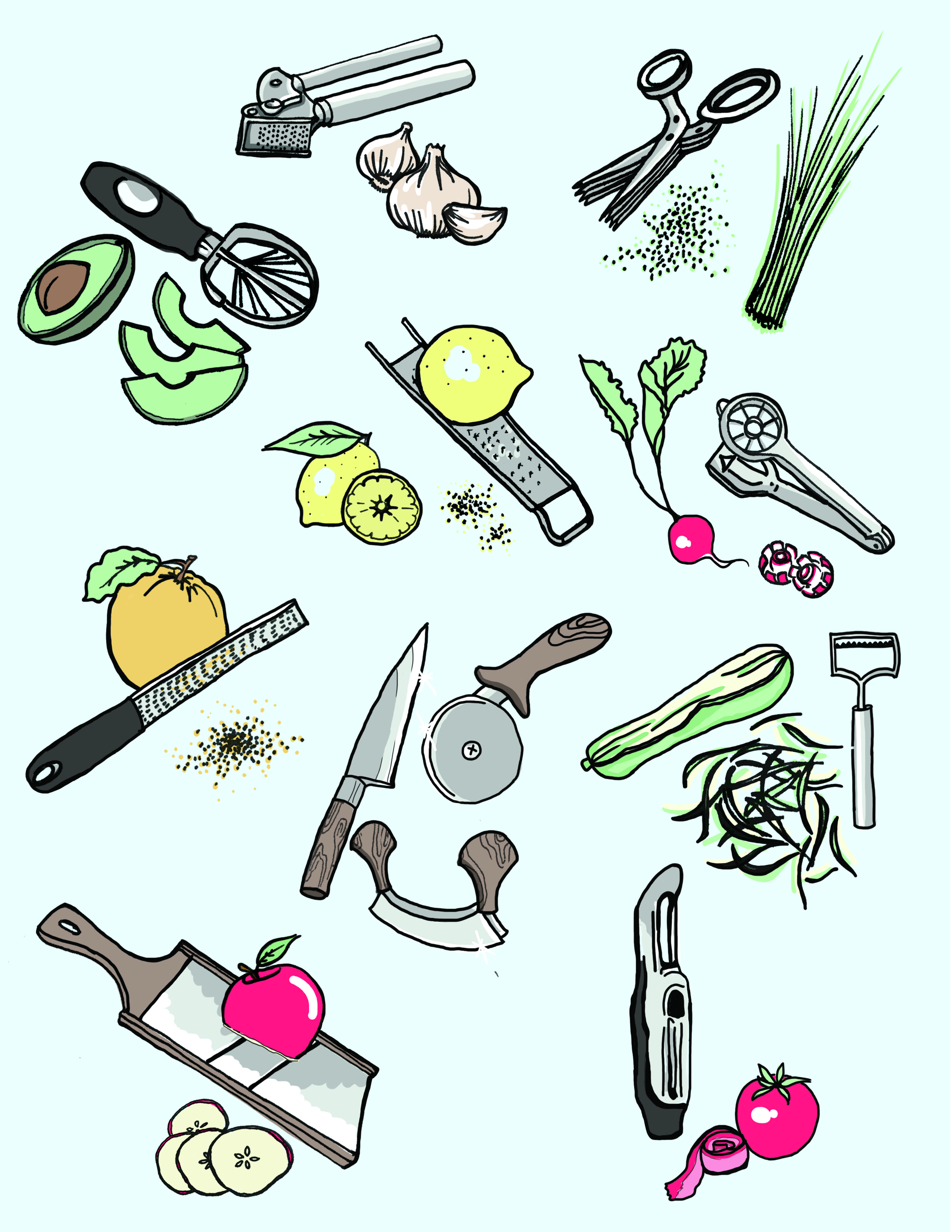 Veggies and knife clipart free The 11 Tools That Make Vegetables Fun   Kitchn free