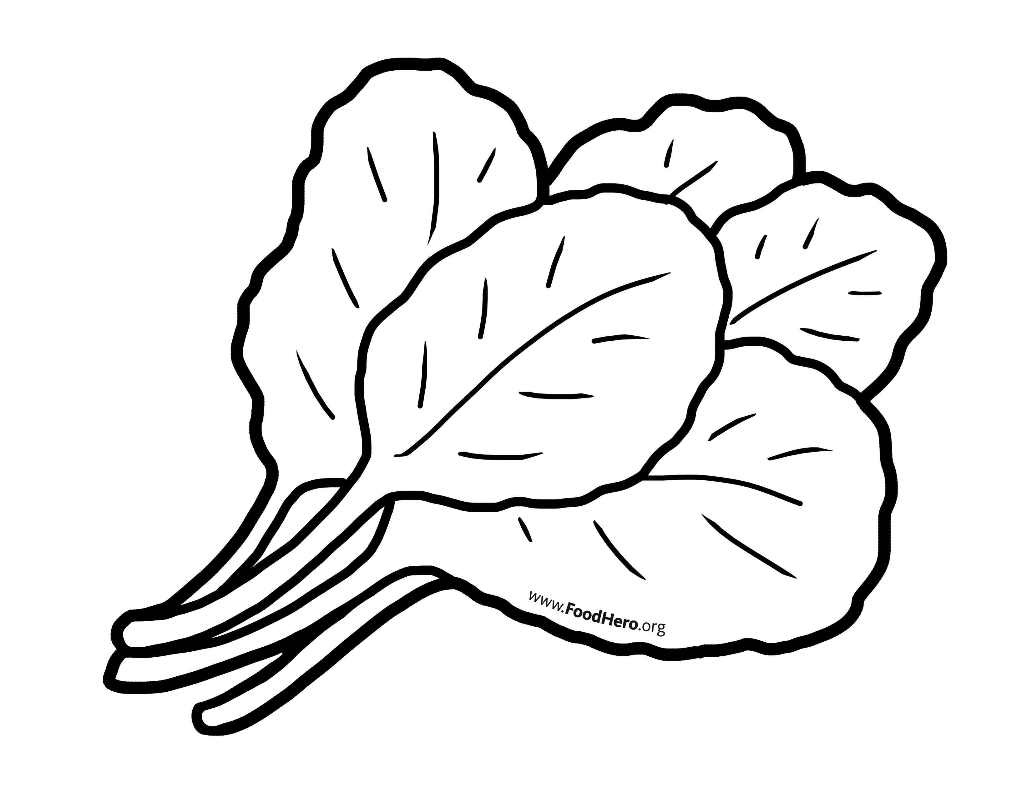 Veggies in pot black and white outline clipart banner black and white download Chollard Greens illustration. #foodhero #bullentinboards ... banner black and white download