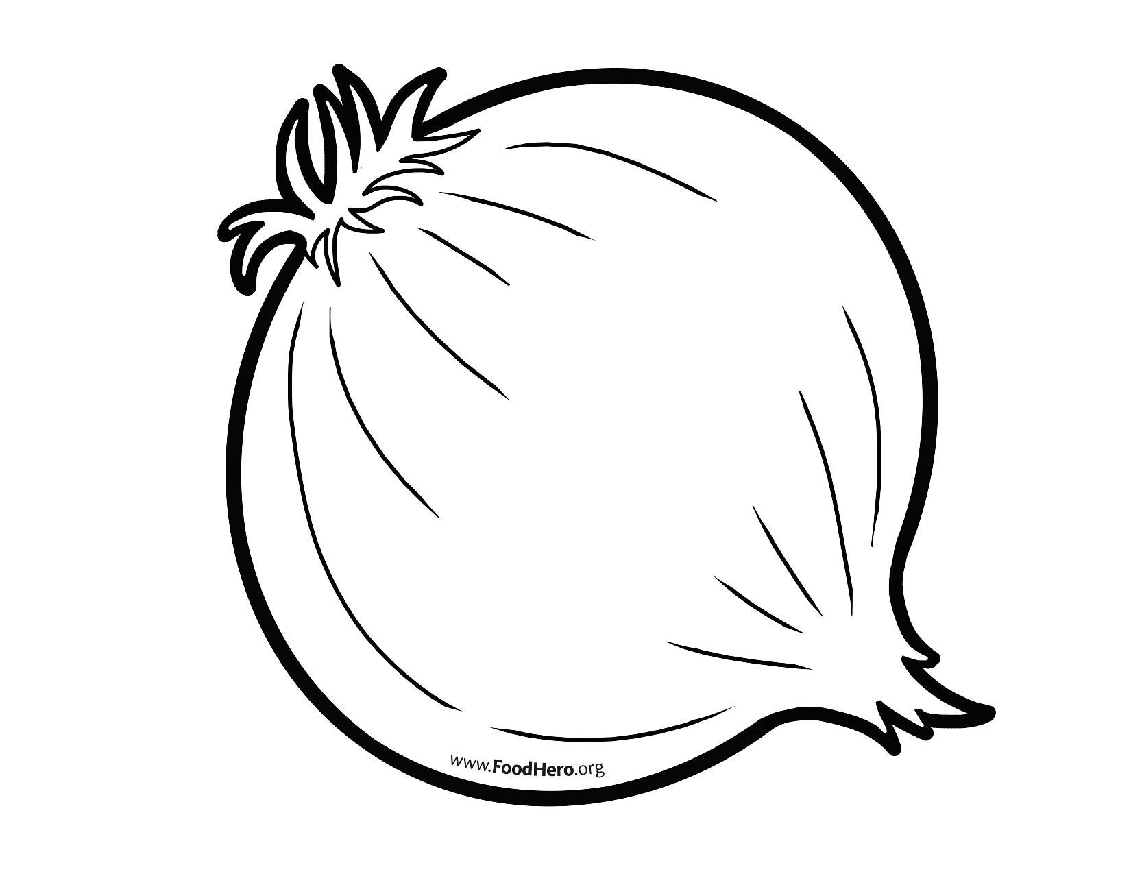Veggies in pot black and white outline clipart graphic free Onion outline from FoodHero.org | Ingredients - Vegetables ... graphic free