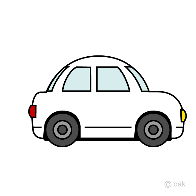 Older model white car clipart clip art free library Cute Car Clipart Free Picture|Illustoon clip art free library