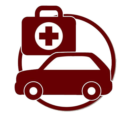 Vehicle emergency kit clipart