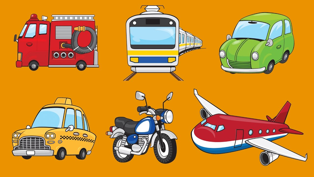 Vehicles clipart for preschoolers clip free download Learn Vehicles for Kids   Talking Flashcards clip free download
