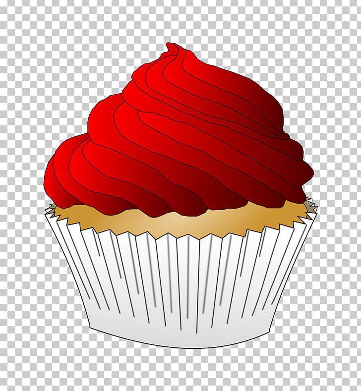 Velvet clipart vector library library Christmas Cupcakes Red Velvet Cake Frosting & Icing Muffin ... vector library library