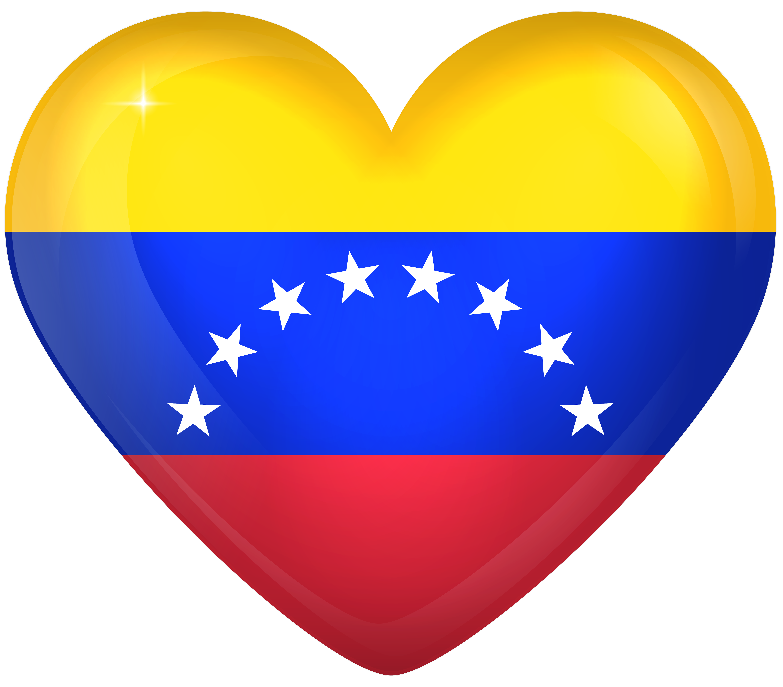 Venezuala clipart png freeuse download Venezuela Large Heart Flag   Gallery Yopriceville - High ... png freeuse download