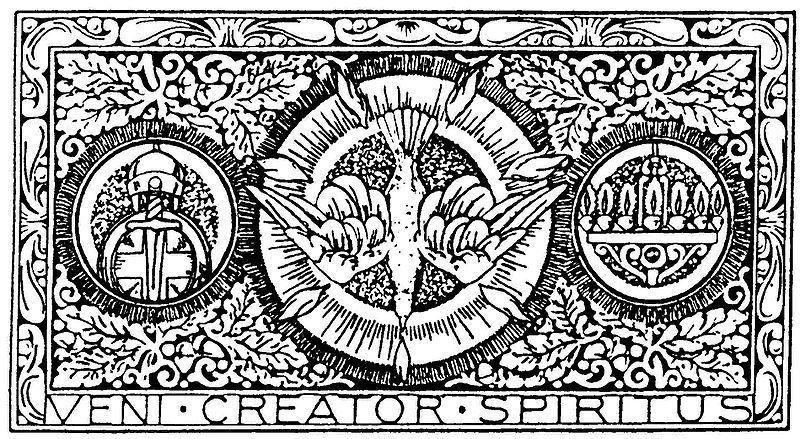Veni creator spiritus clipart graphic black and white Pentecost- Plenary Indulgence - RLMS graphic black and white
