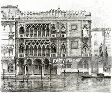 Venice ca sign clipart png library download venice, Ca\' D\'oro, Grand Canal, Engraving, 1884\' premium ... png library download