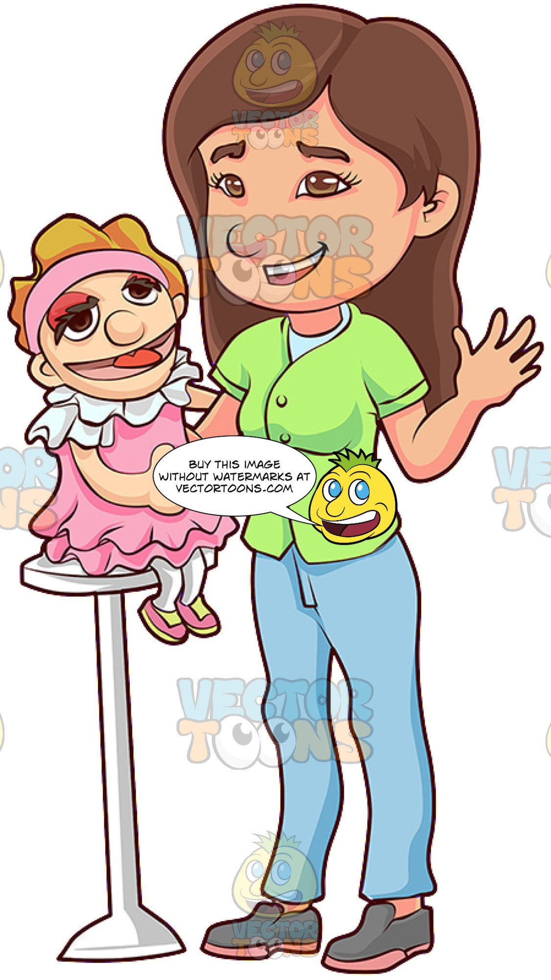Ventriliquist clipart banner library library A Friendly Female Ventriloquist banner library library