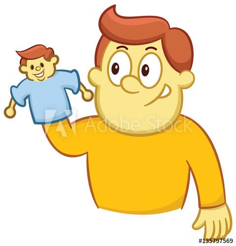 Ventriliquist clipart png transparent download Ventriloquist and His Puppet Cartoon Illustration Isolated ... png transparent download