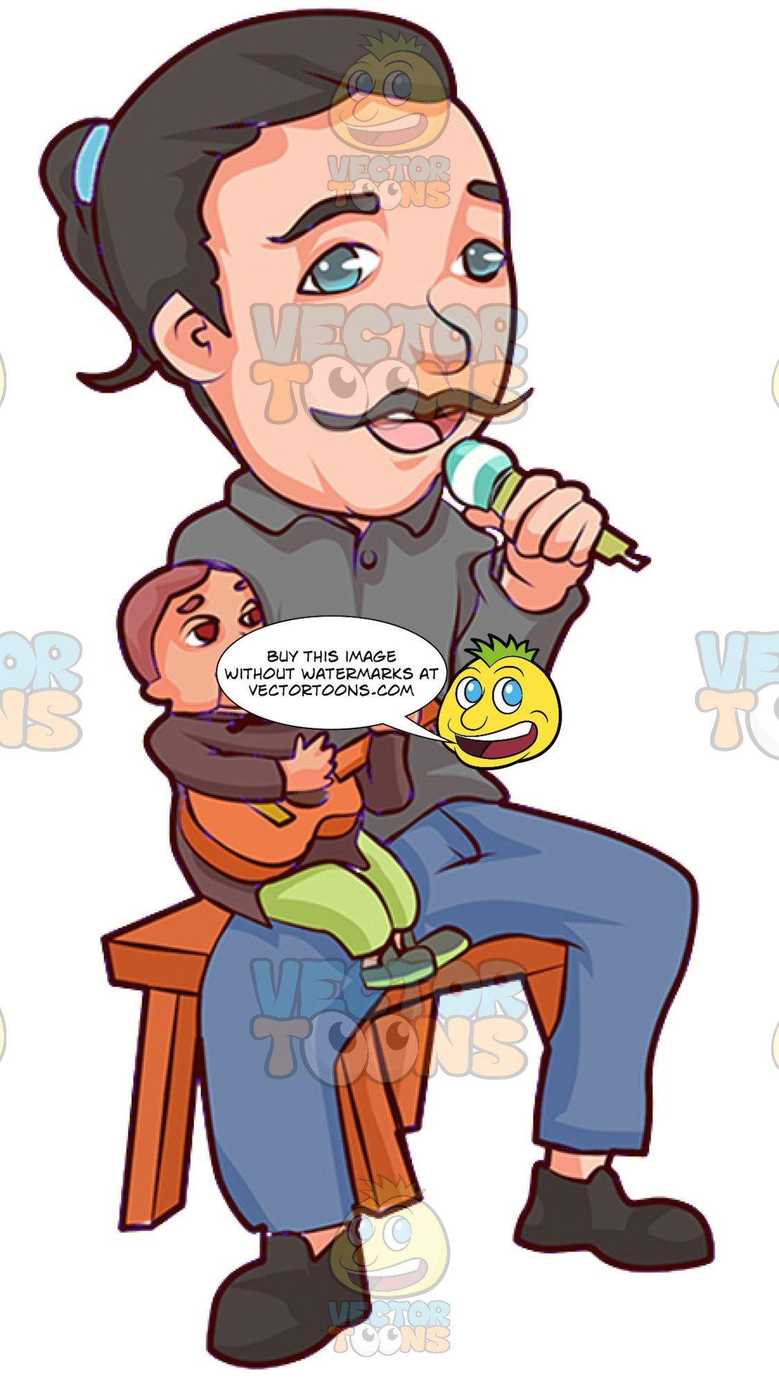 Ventriliquist clipart picture transparent download A Singing Male Ventriloquist picture transparent download