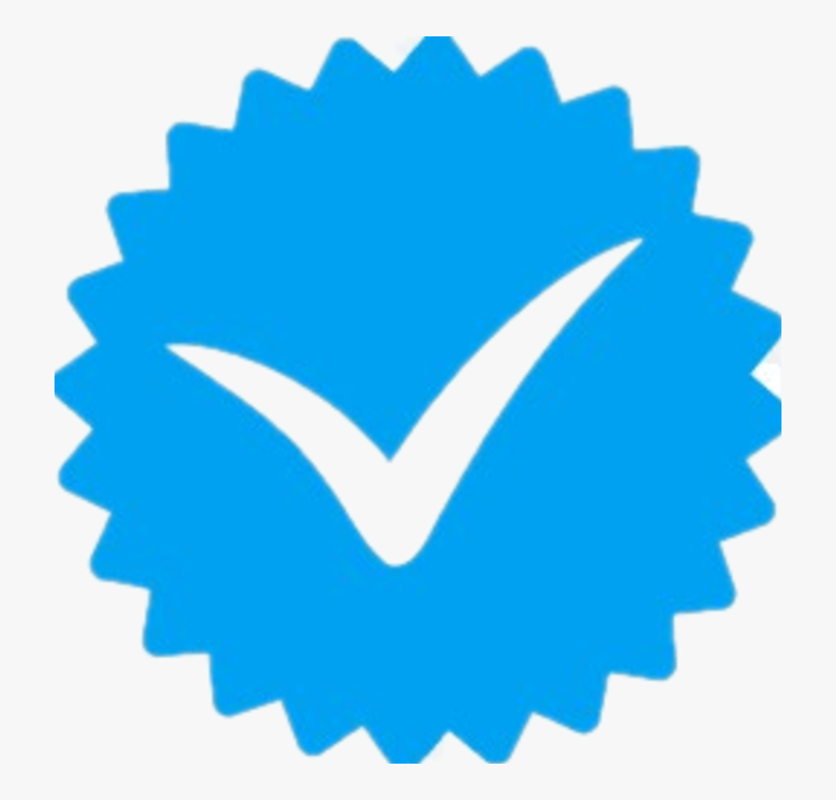 Verified blue tick clipart