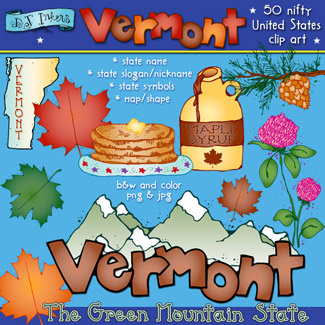 Vermont girl clipart graphic stock Lovely Vermont clip art for the green mountain state by DJ ... graphic stock