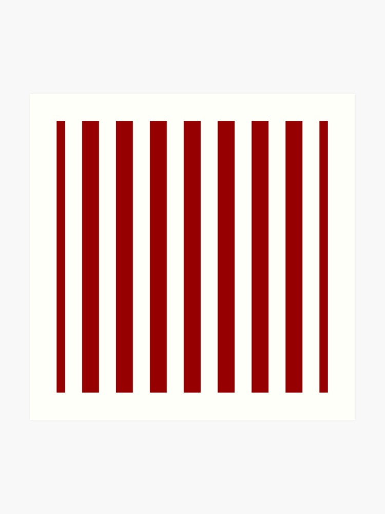 Vertical barcode clipart clip transparent library Red marine stripes pattern, vertical lines, barcode   Art Print clip transparent library
