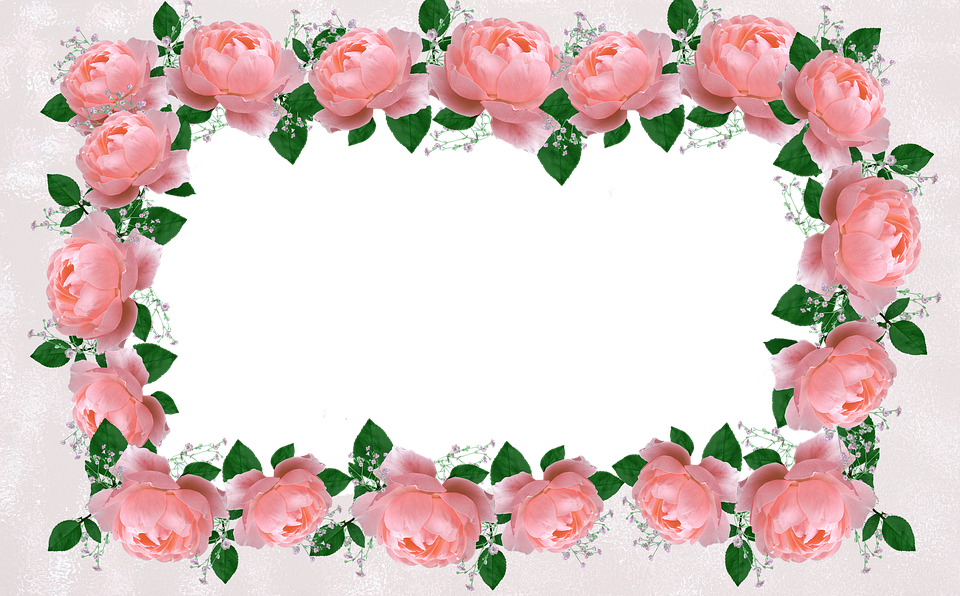 Vertical flower border clipart clip art black and white stock Free photo Floral Decorative Border Roses Frame - Max Pixel clip art black and white stock
