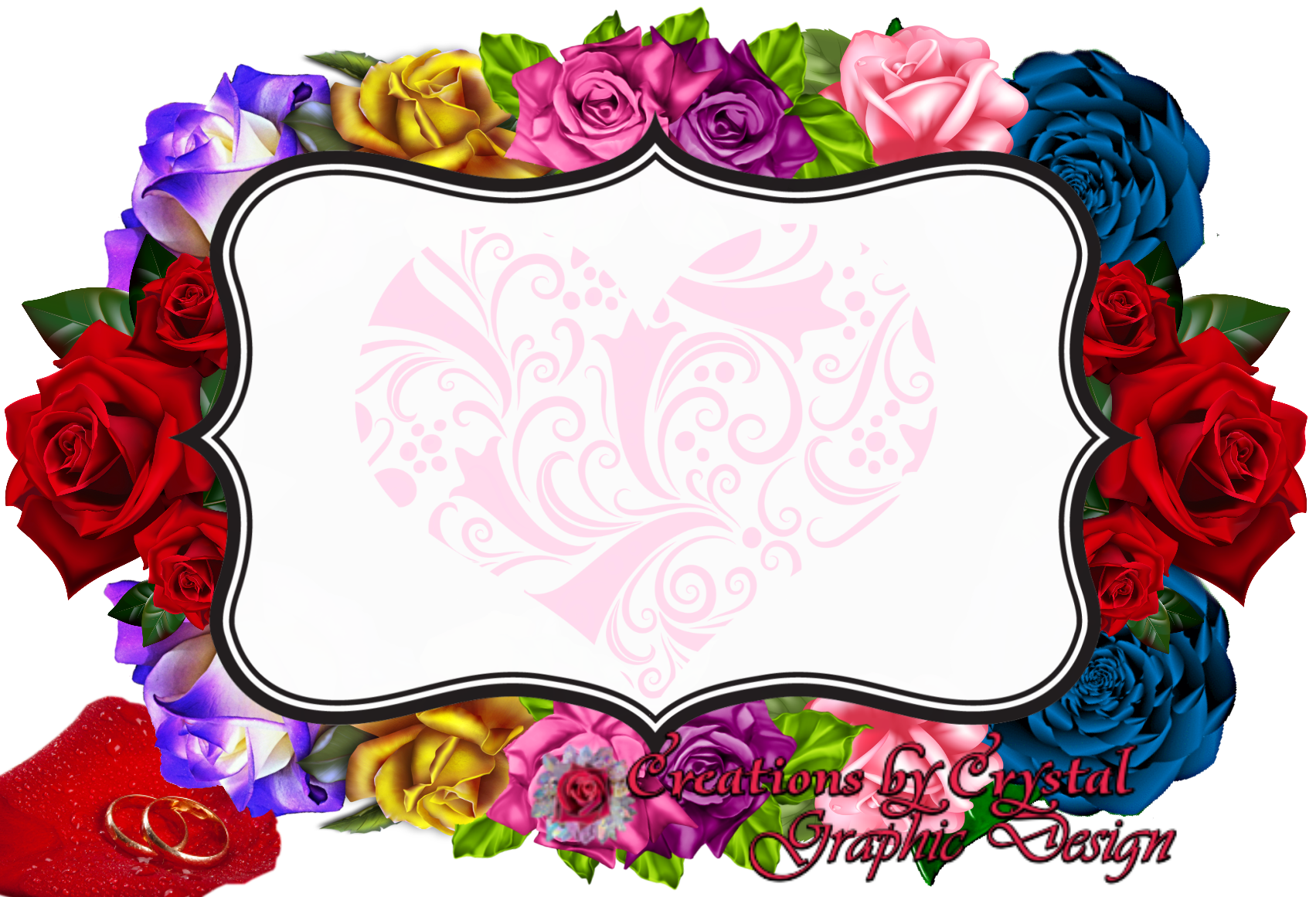 Vertical flower border clipart transparent Custom Borders Created For Her - CbyCGraphicDesign transparent