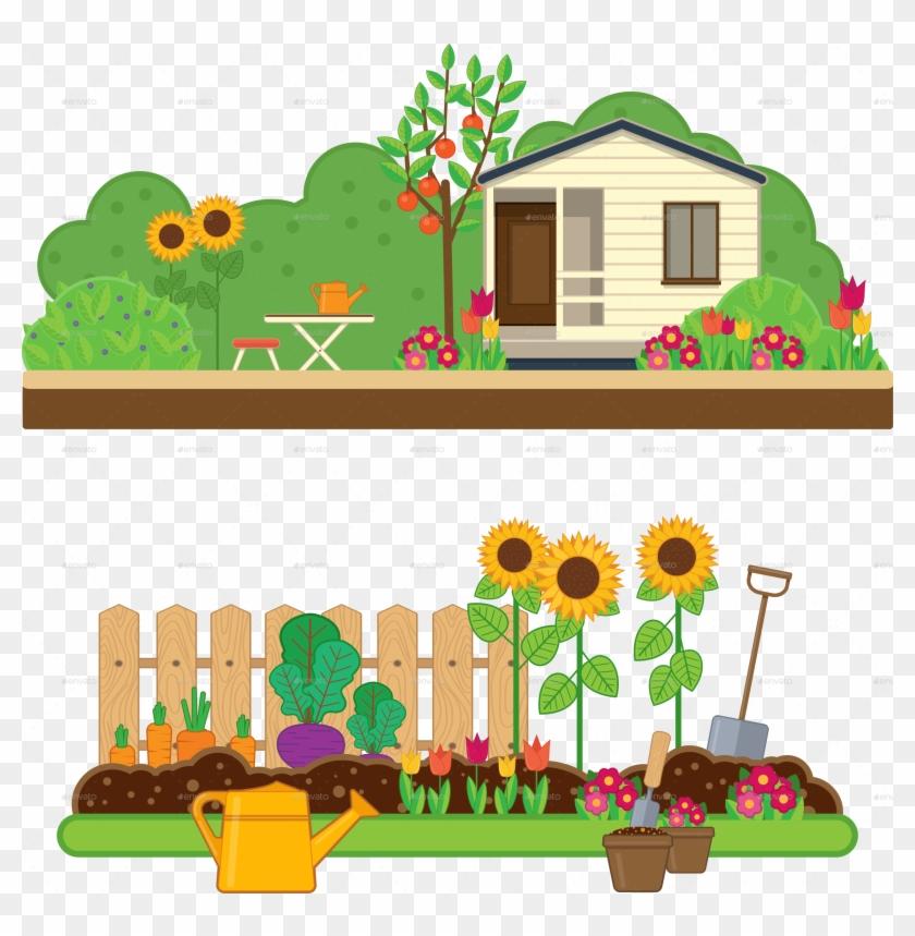 Vertical garden clipart clip art freeuse download Gardening Set By Sabina-s - Garden Clipart, HD Png Download ... clip art freeuse download