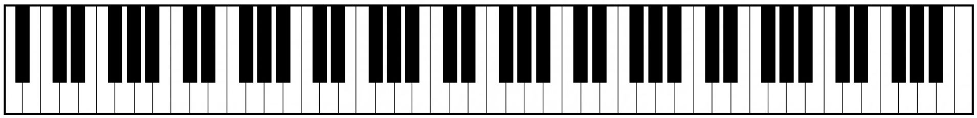 Vertical piano keys clipart clip black and white Kata Stats: Piano Kata, Part 1 | Codewars clip black and white