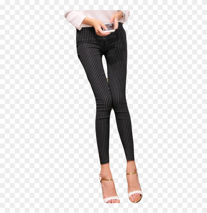 Vertical striped pants clipart image free Women Vertical Striped Pants - Leggings, HD Png Download ... image free
