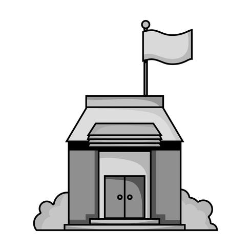 Verticle nature grayscale clipart clip free library grayscale school education with roof and doors design ... clip free library