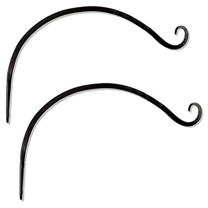 Very curved hook clipart clip freeuse Gray Bunny GB-6820B Hand Forged Curved Hook, 14 Inch, Set of 2, Black,  Beautiful Outdoor Mounted Upturned Hook for Bird Feeders, Plants, Lanterns,  ... clip freeuse