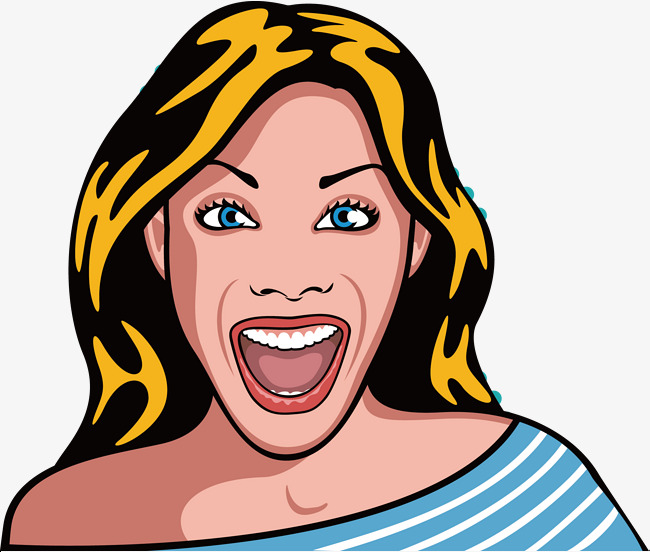 Very happy clipart image freeuse library Very Happy And Surprised Woman, Woman Ve #89676 - PNG Images ... image freeuse library