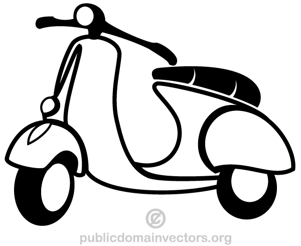 Vespa clipart free clip art royalty free stock Vector Scooter Clip Art | Free Vectors | Vespa vector, White ... clip art royalty free stock