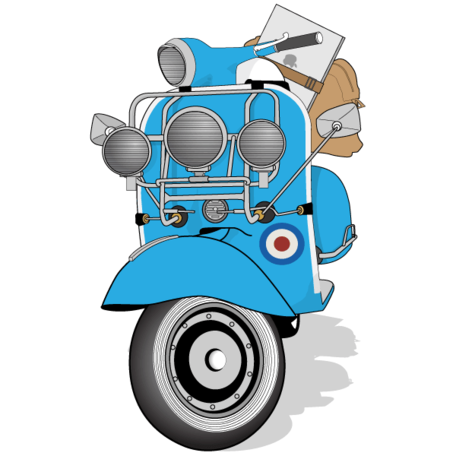 Vespa clipart free graphic black and white stock Free Free Vespa Scooters Clipart and Vector Graphics ... graphic black and white stock