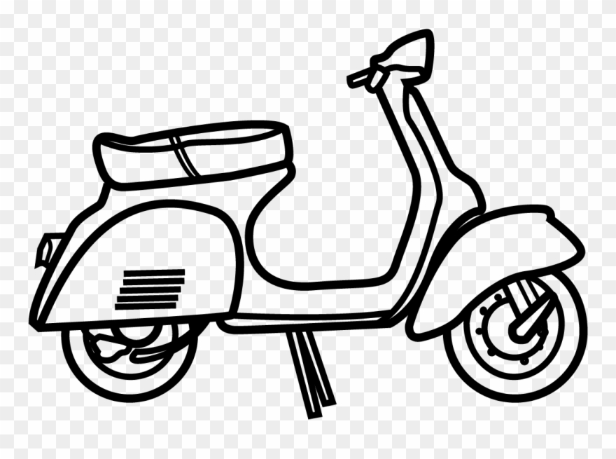 Vespa clipart free jpg black and white stock Vespa - Scooter Clipart (#3193212) - PinClipart jpg black and white stock