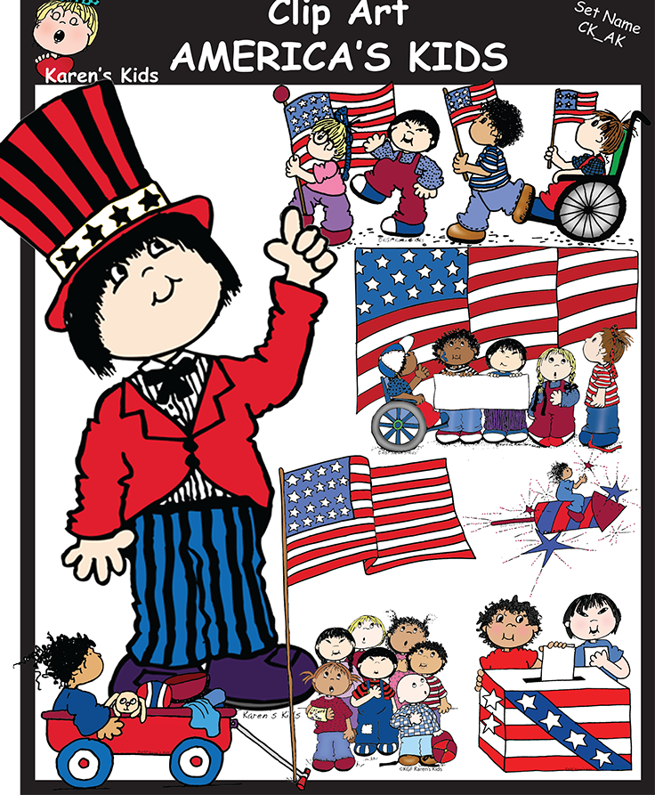 Veterans clipart kids color png download America\'s Kids clipart includes 66 image files, 33 full ... png download