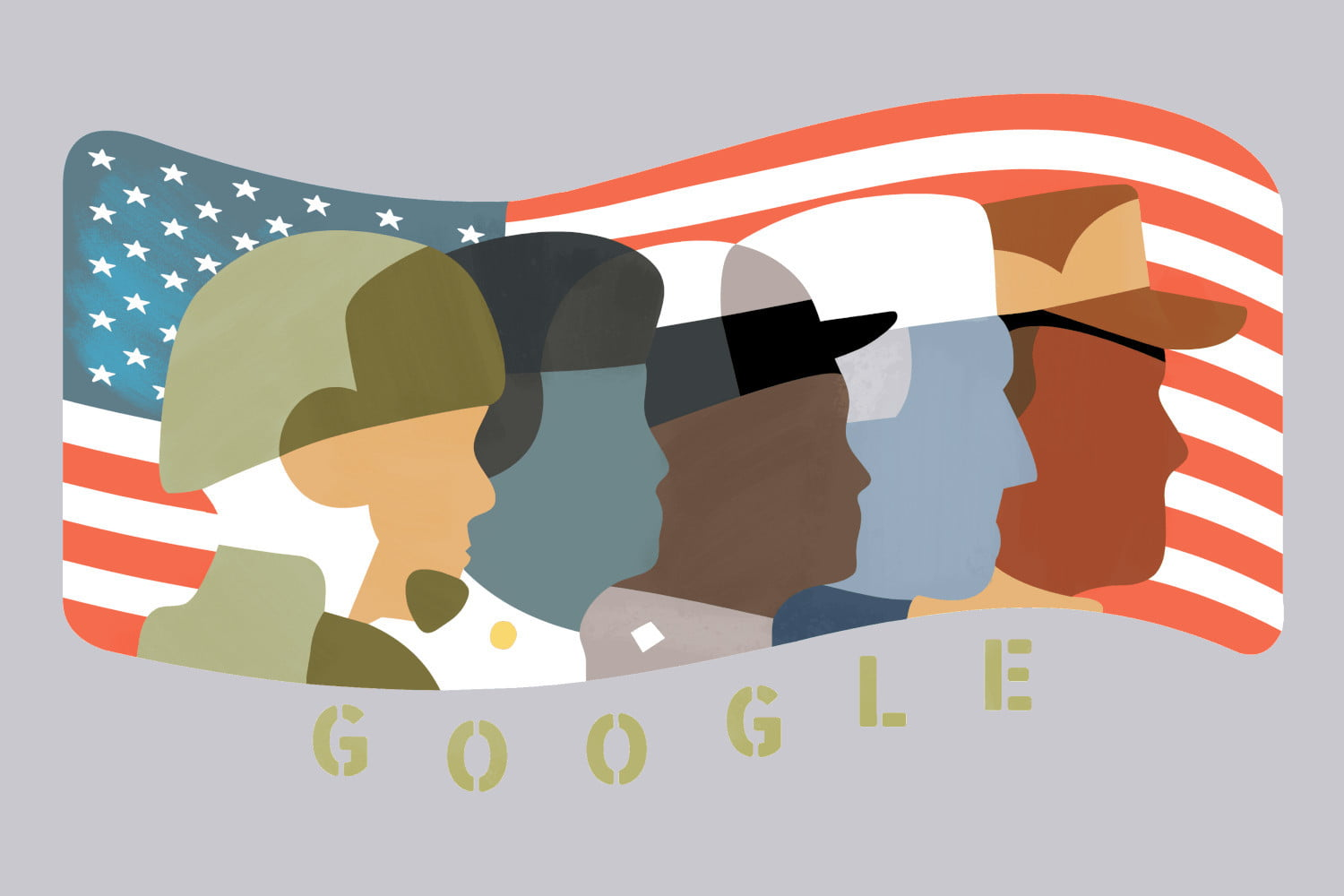 Veterans day clipart 1500x1000 png black and white Google honors Veterans Day by highlighting military service ... png black and white