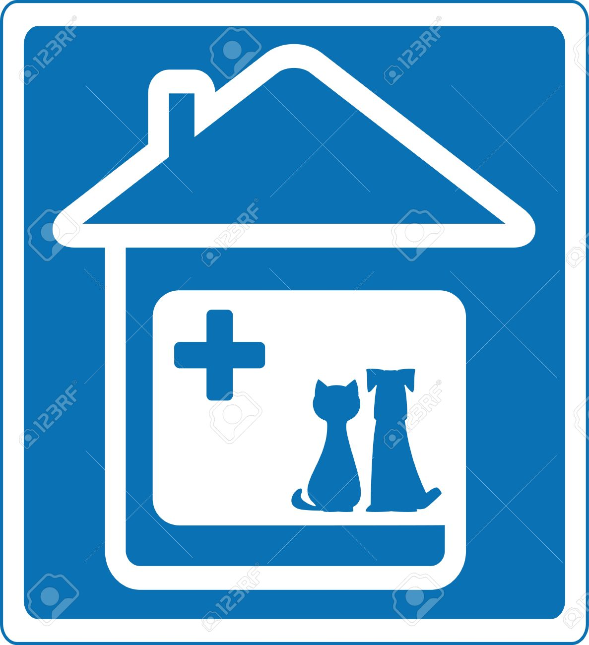 Vet clinic clipart clip black and white stock veterinary clinic: blue | Clipart Panda - Free Clipart Images clip black and white stock