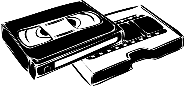 Vhs tapes clipart banner black and white Vhs Cassette Video Clip Art at Clker.com - vector clip art ... banner black and white