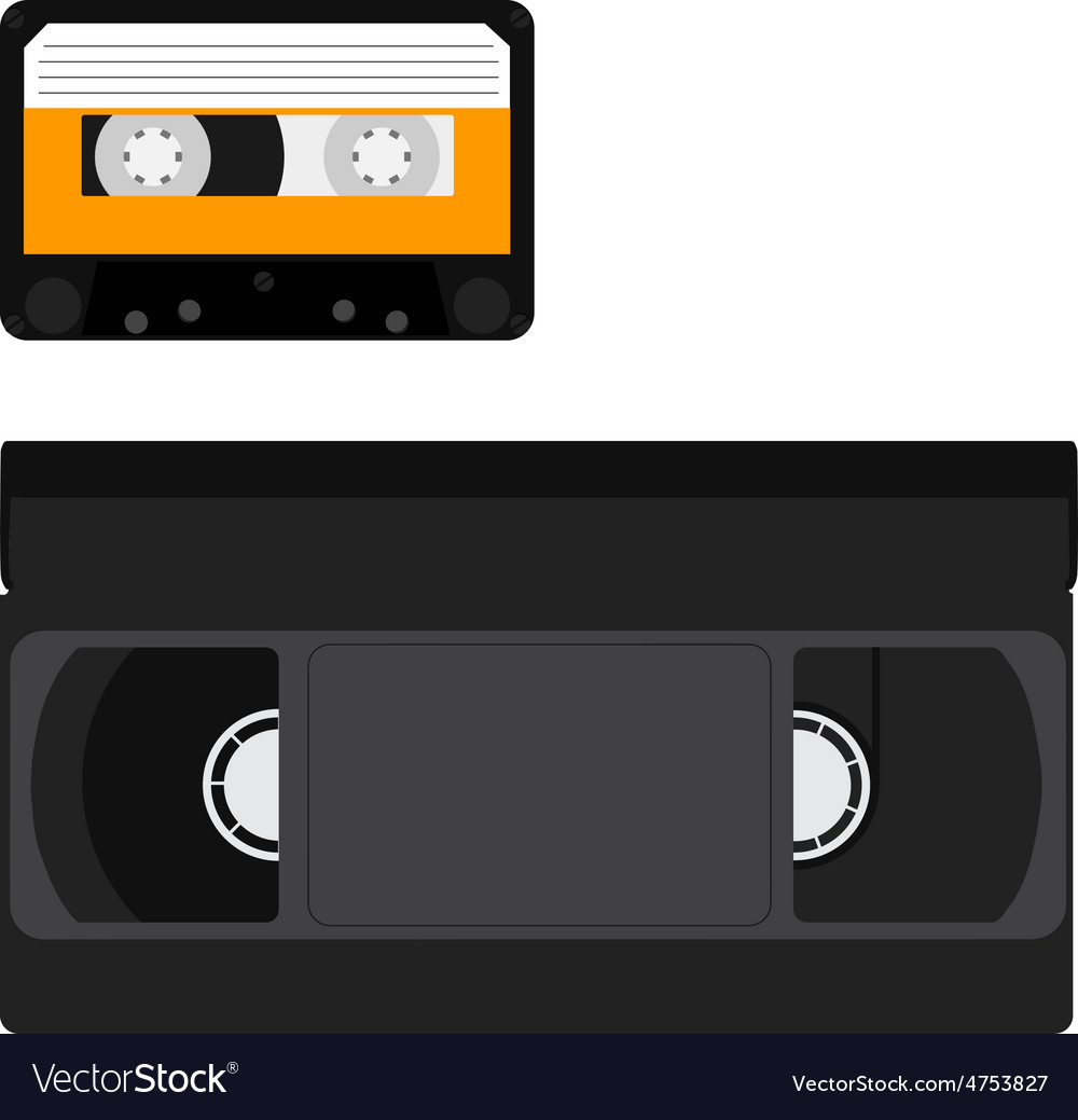 Vhs tapes clipart graphic transparent stock Cassette and vhs tape graphic transparent stock