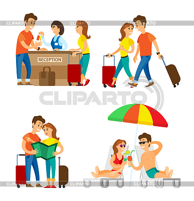 Viajeros clipart png library Viajero | Fotos Stock y Clipart vectorial EPS | CLIPARTO png library