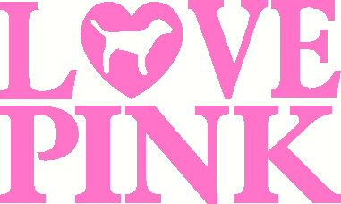 Victoria secret clipart graphic black and white stock Love Pink Victoria Secret vinyl decal sticker laptop auto ... graphic black and white stock