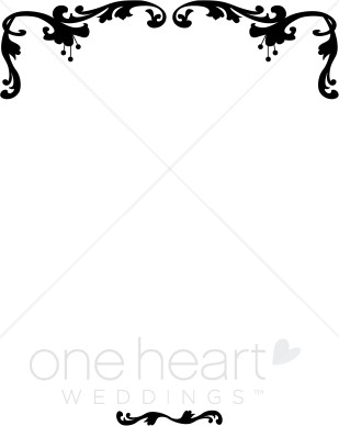 Wedding clipart and borders vector black and white download Victorian Wedding Border | Ribbon Borders vector black and white download